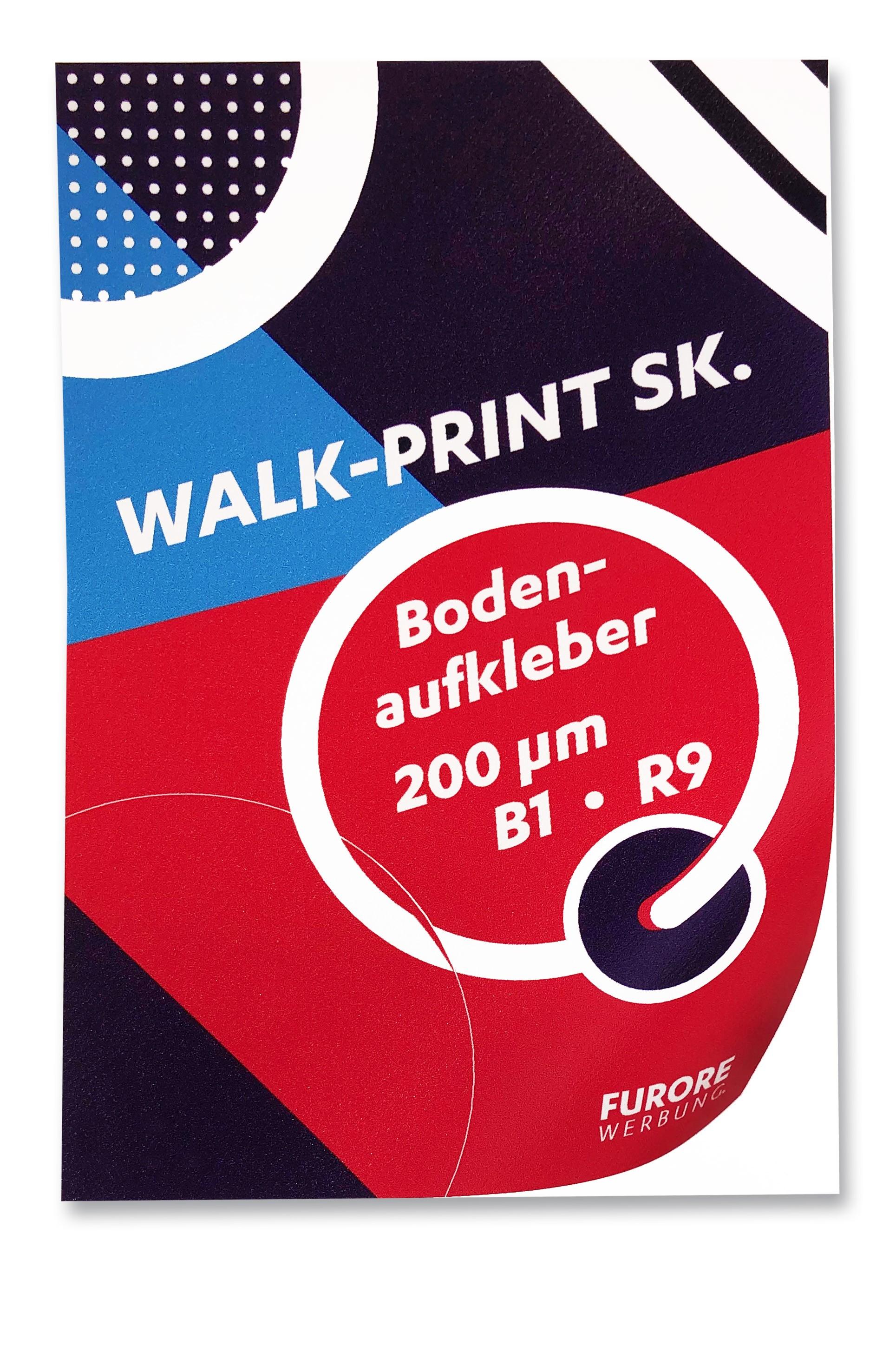 Fußbodenfolie Walk+Print. Preis pro qm/ab 100 qm