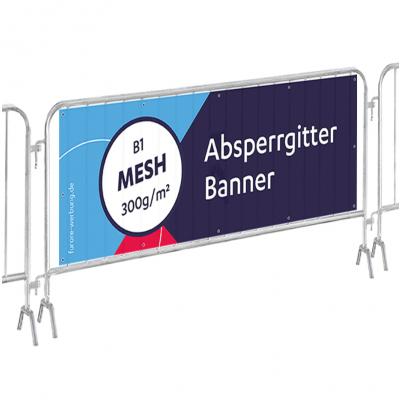 Zaun-Banner Mesh, 10er-Set für Absperrgitter 215x73cm (19,00 € Stk.)