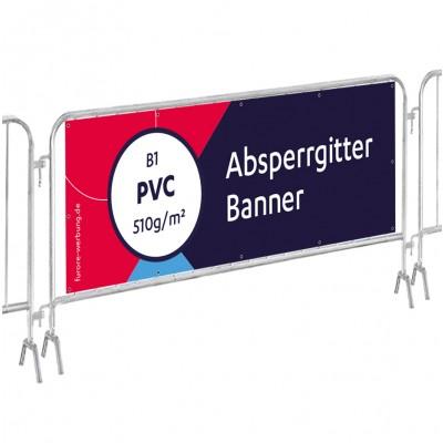 Zaun-Banner Frontlit, 5er-Set für Absperrgitter 215x73cm (22,00 € Stk.)
