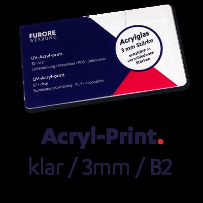UV-Acryl-Print 3mm • Preis pro qm/ab 100 qm • kleinere Mengen siehe Preisstaffel