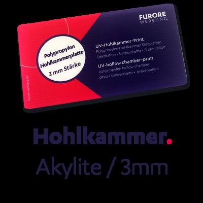 UV-Akylite-Print (Hohlkammer) 3mm • Preis pro qm/ab 100 qm • kleinere Mengen siehe Preisstaffel