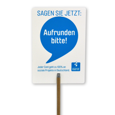 Lollipop-Schild HighQ - hoch, 5er Set