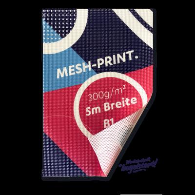 Mesh-Banner Print, B1, mit Saum und Ösen, Preis pro qm/ab 100 qm